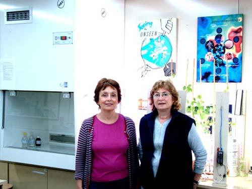 Prof.ª Maria Antonia Malajovich e Silvia Fijalkow
